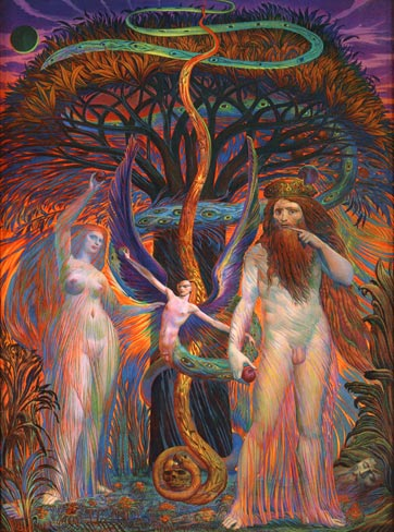 Adam and Eve by Ernst Fuchs